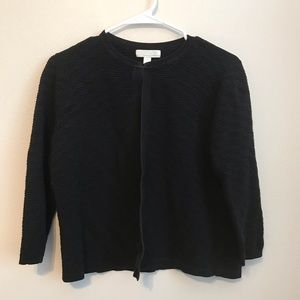 Emerson Rose black cotton textured cardigan